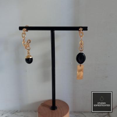 Gold & black onyx