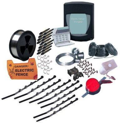Electric fence Kit with Galvanized Poles