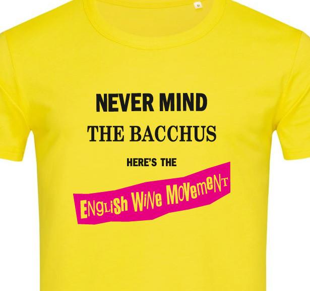 English Wine Movement Bacchus wine T-shirt