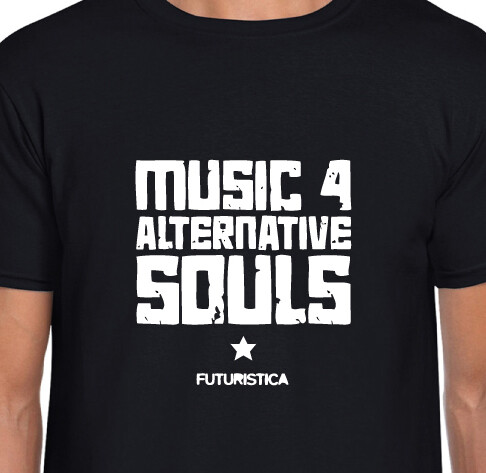 Futuristica Music 4 Alternative Souls music T-shirt