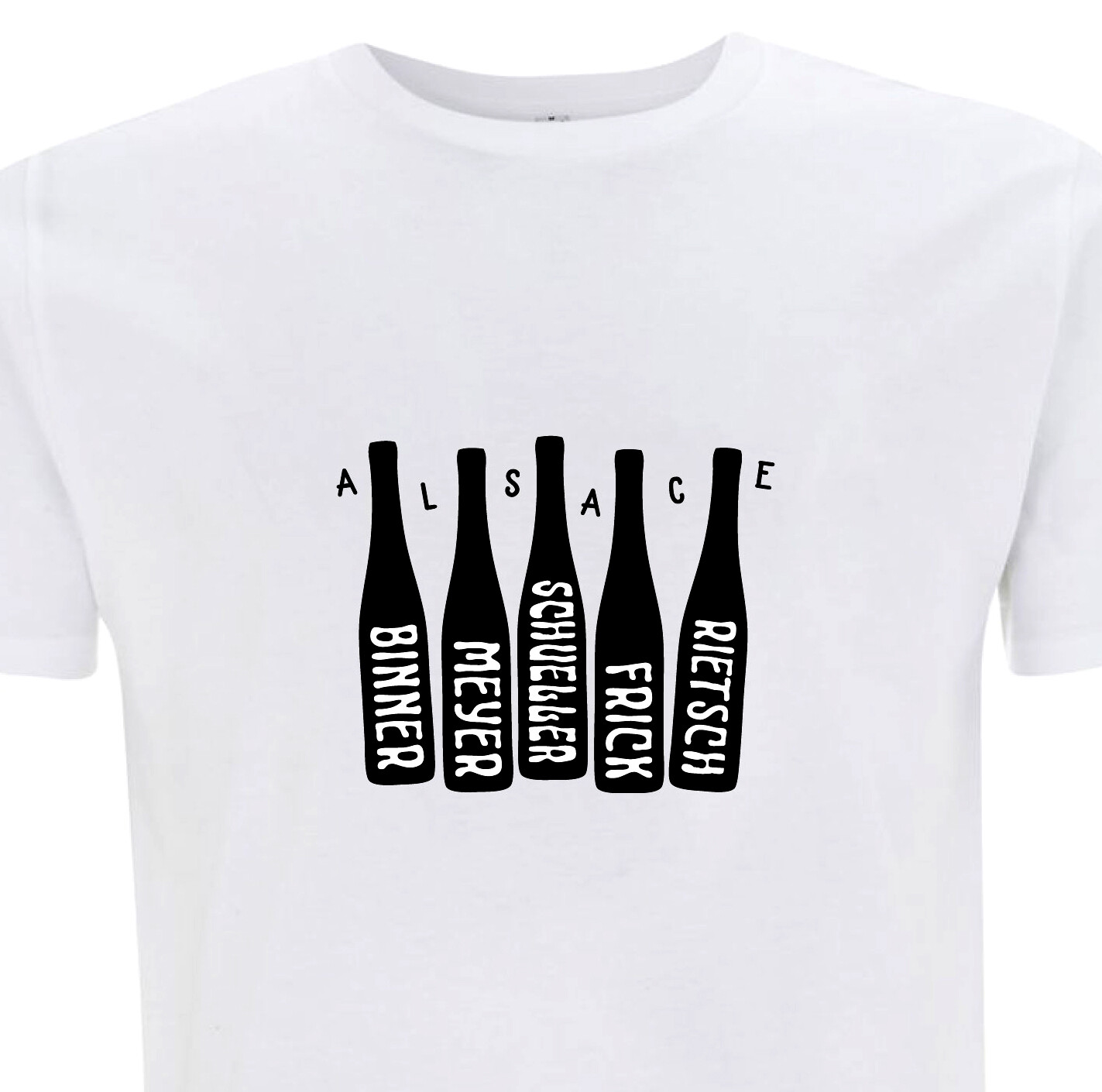 NEW Organic Alsace Gang of 5 Natural Wine Flutes T-shirt