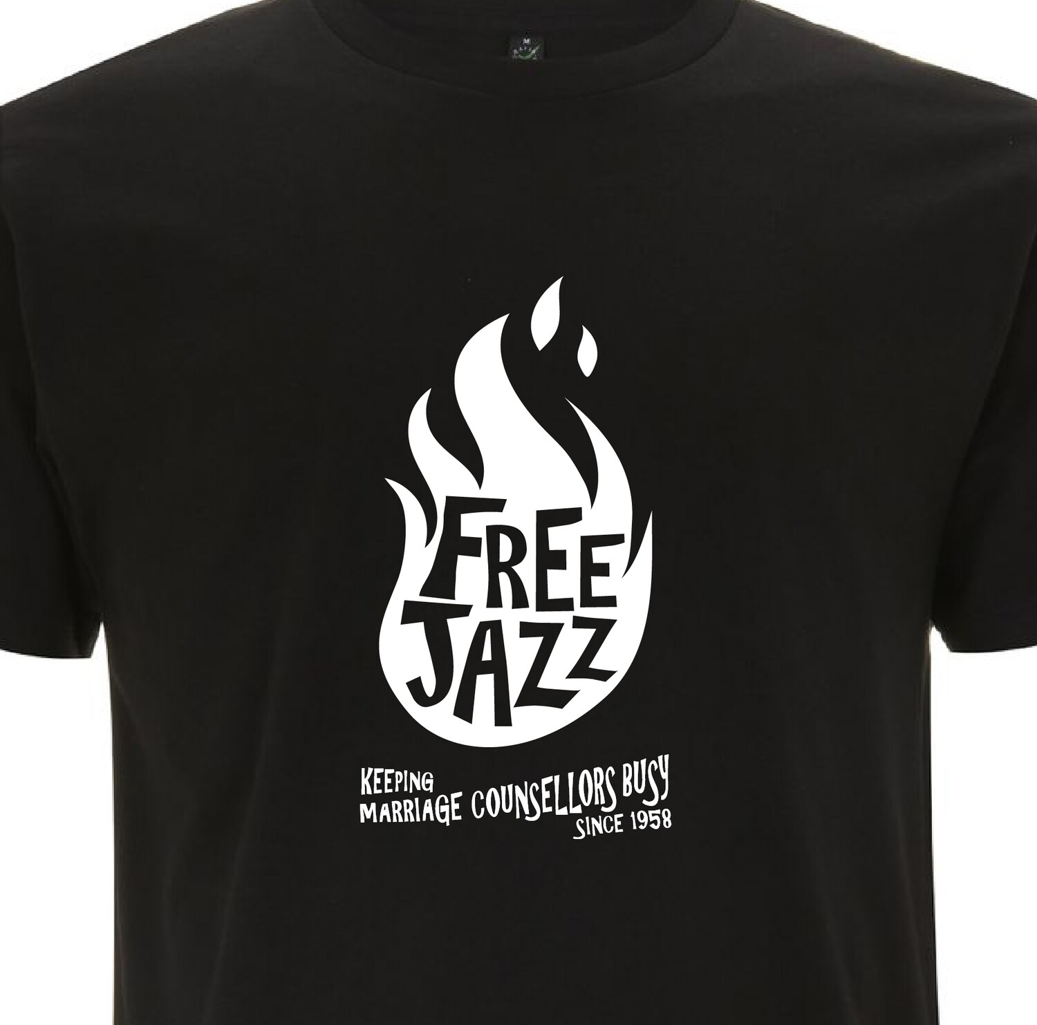 FREE JAZZ Keeping Marriage Counsellors Busy Since 1958 Organic T-shirt.