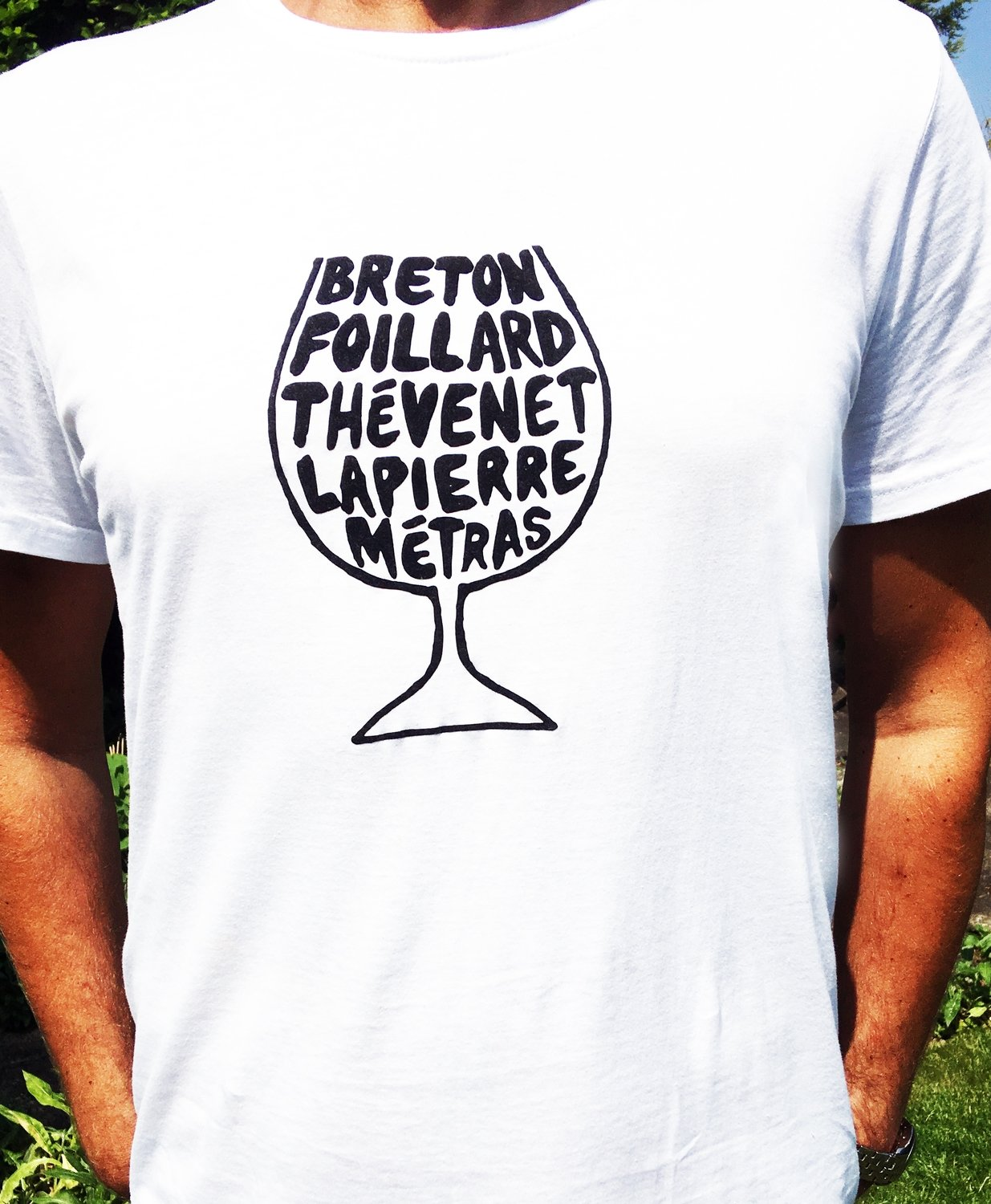 Beaujolais Natural Wine Glass T-shirt - Mens & Womens