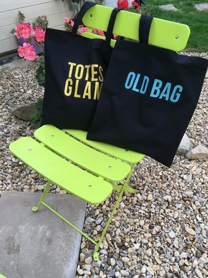 Old Bag/Totes Glam Double Sided Message Glitter Tote Bag