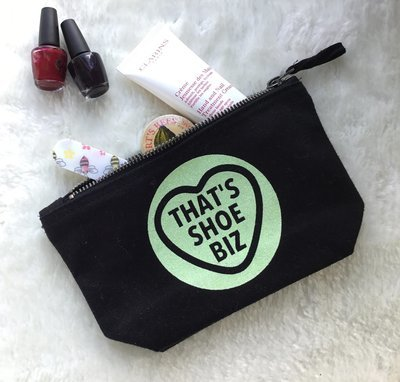 Small Sherbet Heart Personalised make-up accessory Bag