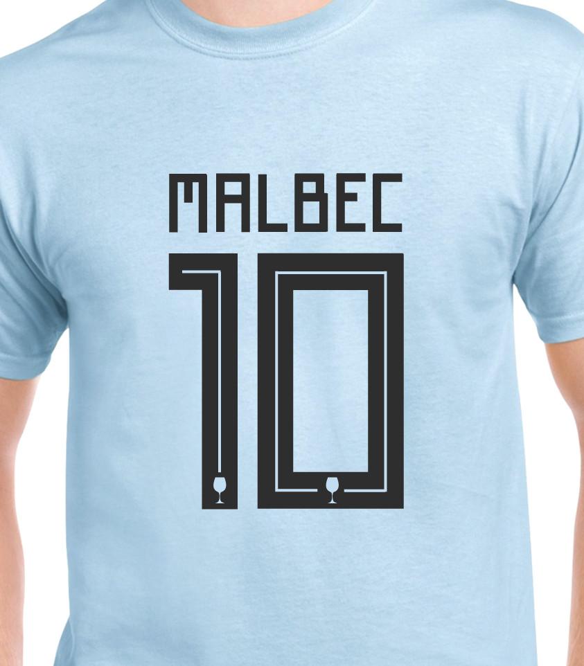Malbec Maradona Messi 10 Argentina wine T-shirt