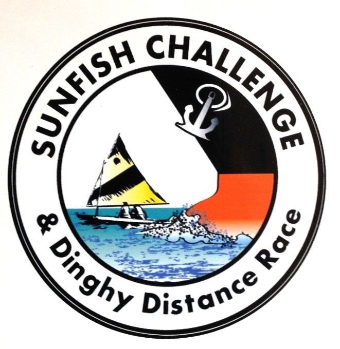 Sunfish Challenge Oval Auto Sticker