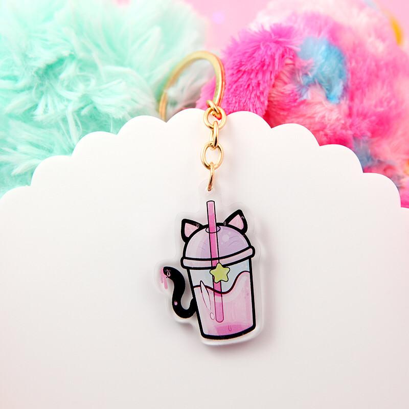 cute kawaii acrylic keychain. Trippy Baby yoda keychain