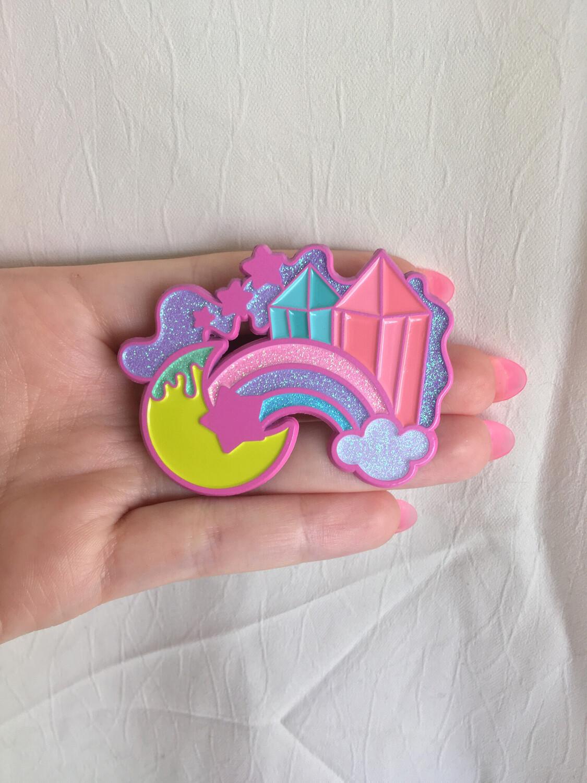 Clearance! Crystal Sky Premium Art pin