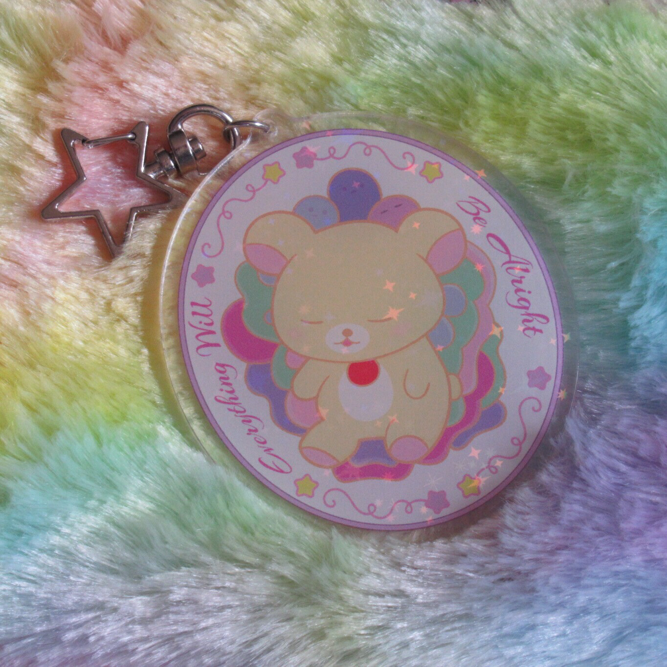 Everything Will Be Alright Holographic Keychain