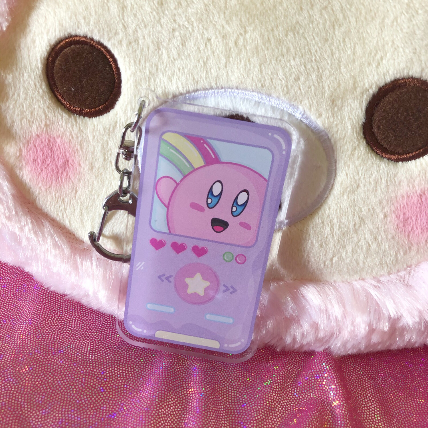 Kawaii Kirby MP3 Player Acrylic keychain