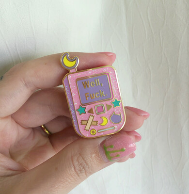 "*NEW VARIANT* Flip phone Style Retro ""Well, F*ck"" Pin"