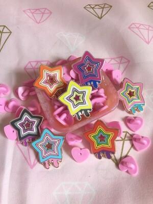 LGBTQ+ Pride Star Enamel Pin