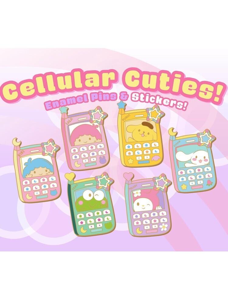 Cellular Cuties Enamel Pins (arriving November)