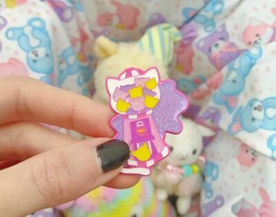Kawaii Kitty Gumball Pin (LE Collab)