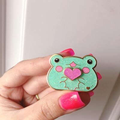 Frog-Boi & Accessories Enamel Pin