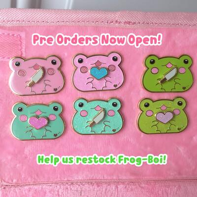*NEW* Frog-Boi & Accessories Enamel Pin