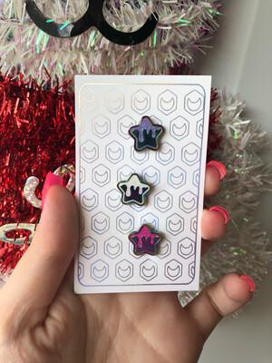*NEW* Anodized Mini Star Pins