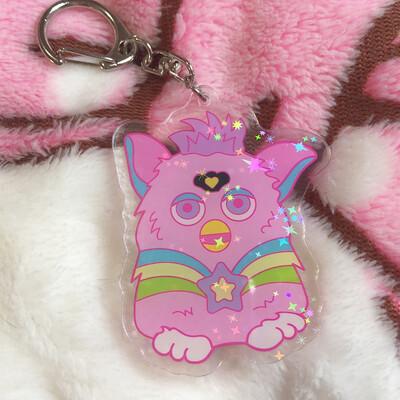 *NEW* Magical Furby Holo Acrylic Keychain