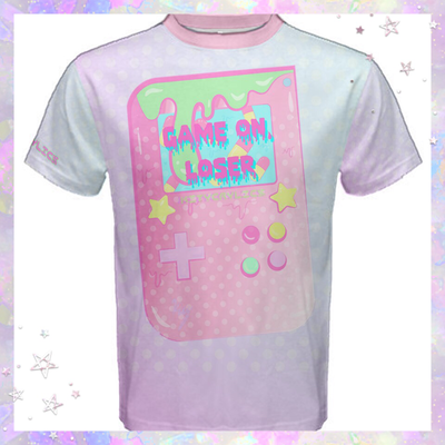 "KityCrylics Fairy Kei ""Game On, Loser!"" shirt  (unisex)"