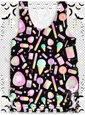 KityCrylics Kawaii Sweets Tank Top (black variation)