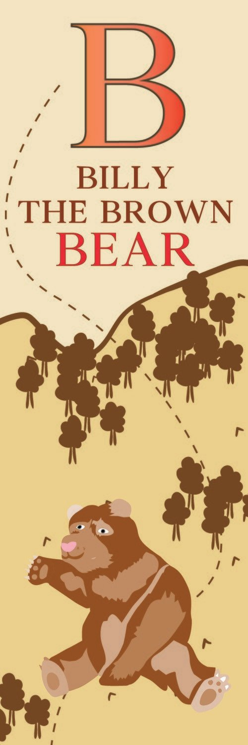 Billy The Brown Bear From Belgium Bookmark
