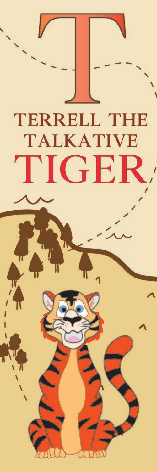 Terrell The Talkative Tiger From Thailand Bookmark