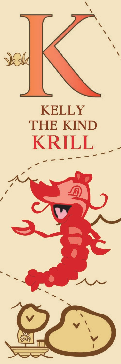 Kelly The Kind Krill From Korea Bookmark