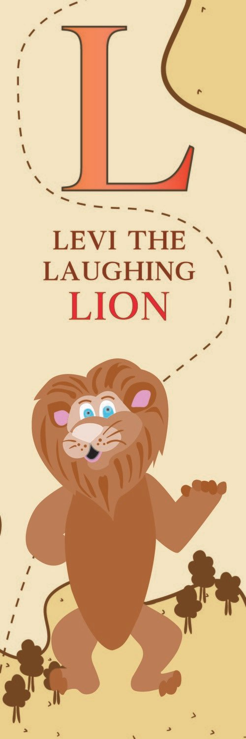 Levi The Laughing Lion From Libya Bookmark
