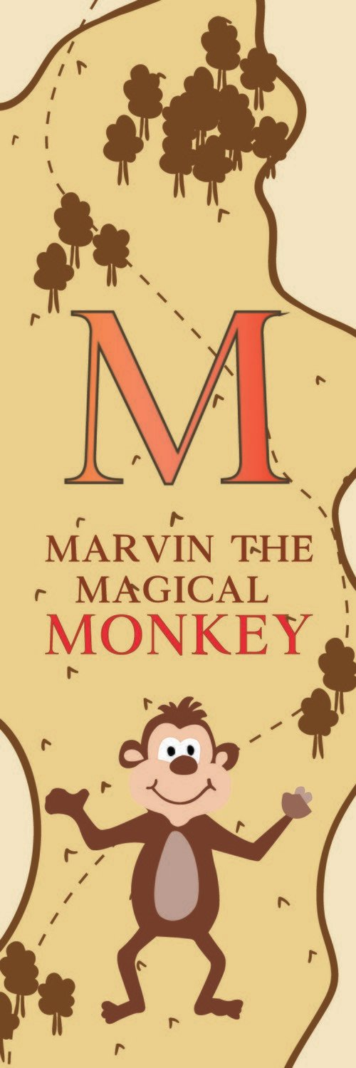 Marvin The Magical Monkey From Malaysia Bookmark