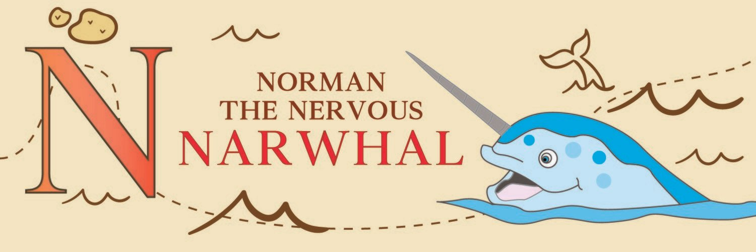 Norman The Nervous Narwhal From Norway Bookmark