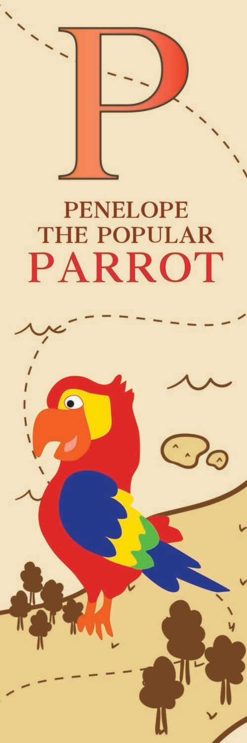 Penelope The Popular Parrot From Panama Bookmark
