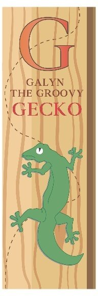 Galyn The Groovy Gecko From Greece Bookmark