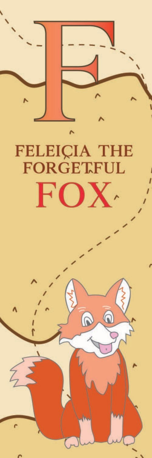 Feleicia The Forgetful Fox From Finland Bookmark