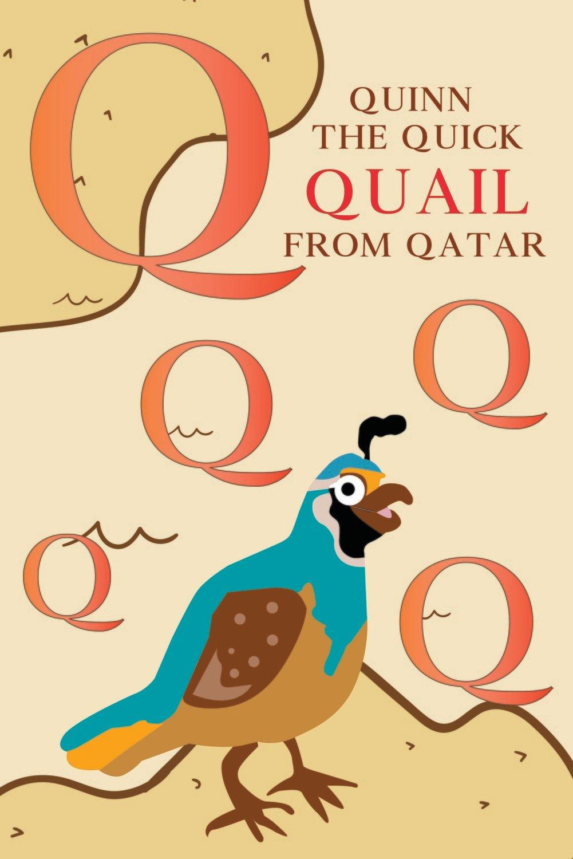 Quinn The Quick QUAIL From QATAR Poster