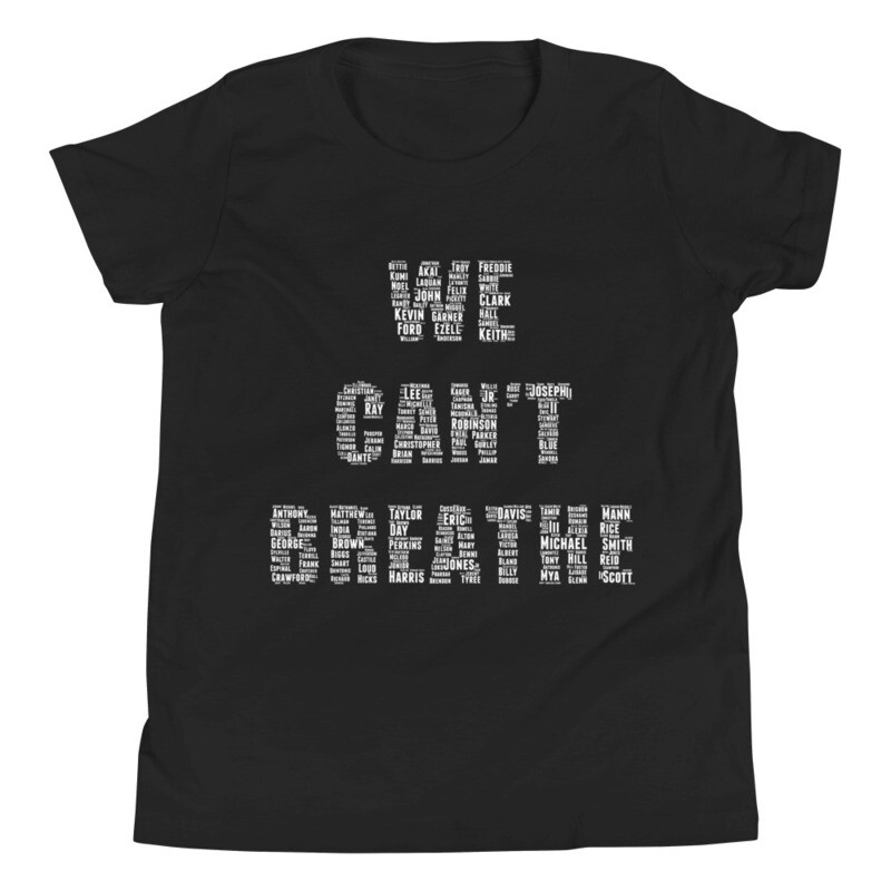 We Can't Breathe Kids Short Sleeve T-Shirt