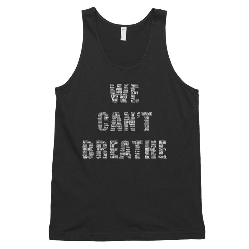 We Cant Breathe Classic tank top (unisex)