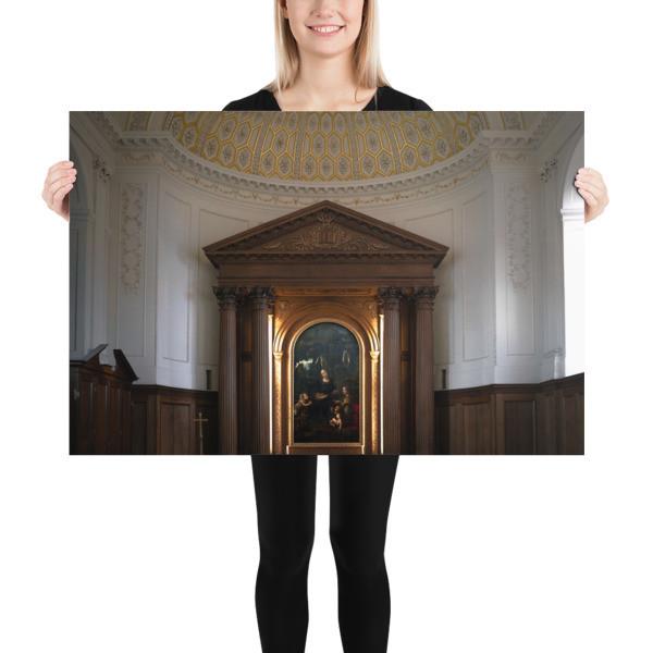 Da Vinci's Virgin of the Rocks — The  Louvre Version, afar