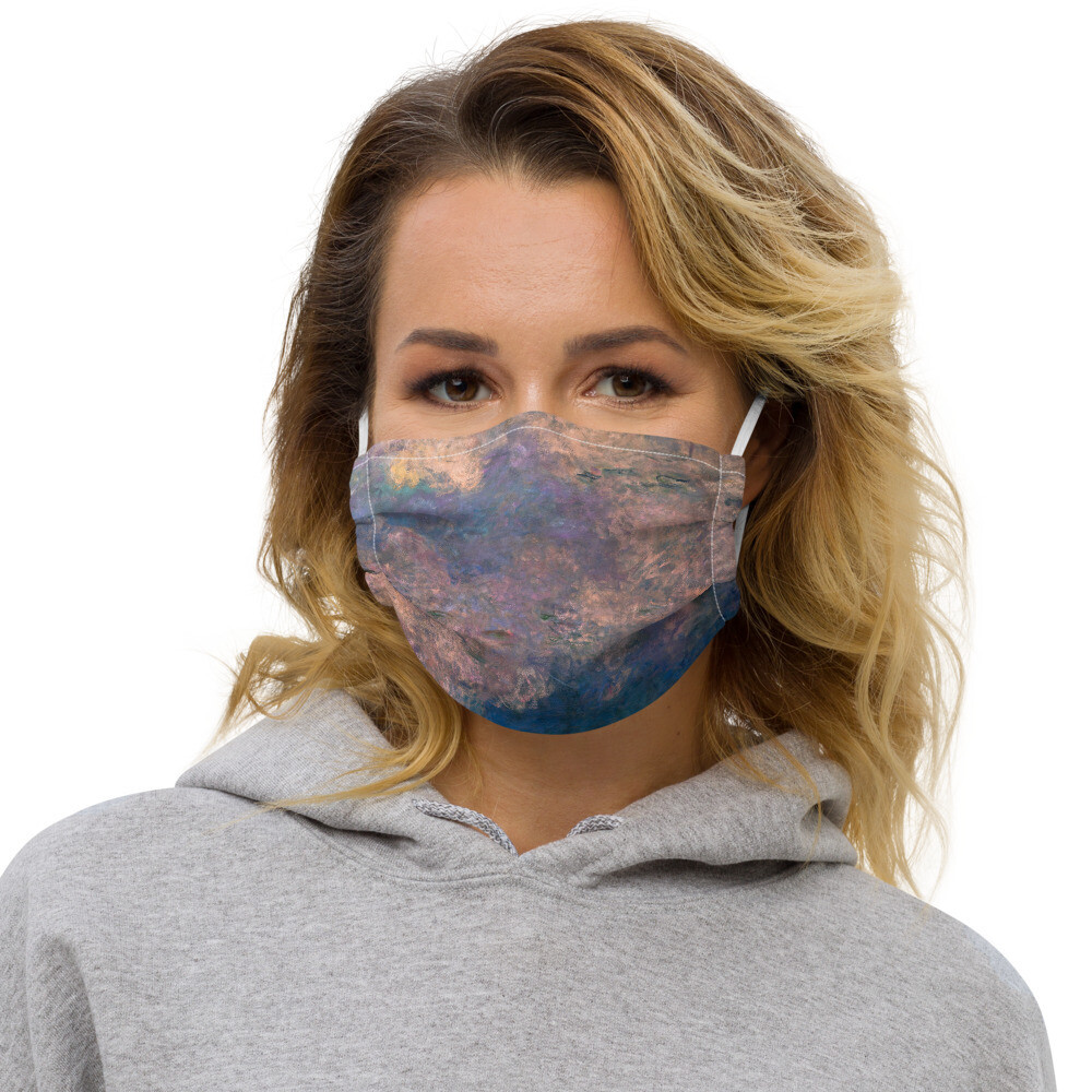Monet Lilies Face Cover — Cloudy Lilac