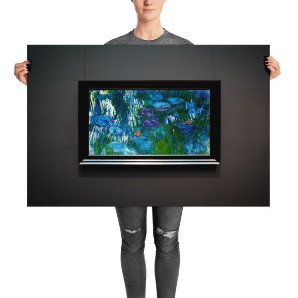 Lilies — Indigo, Steel, Aquamarine