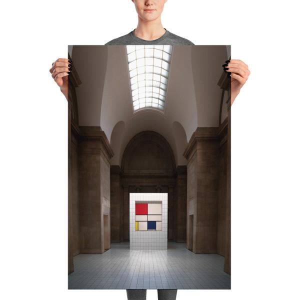 Mondrian's Composition C, vertical