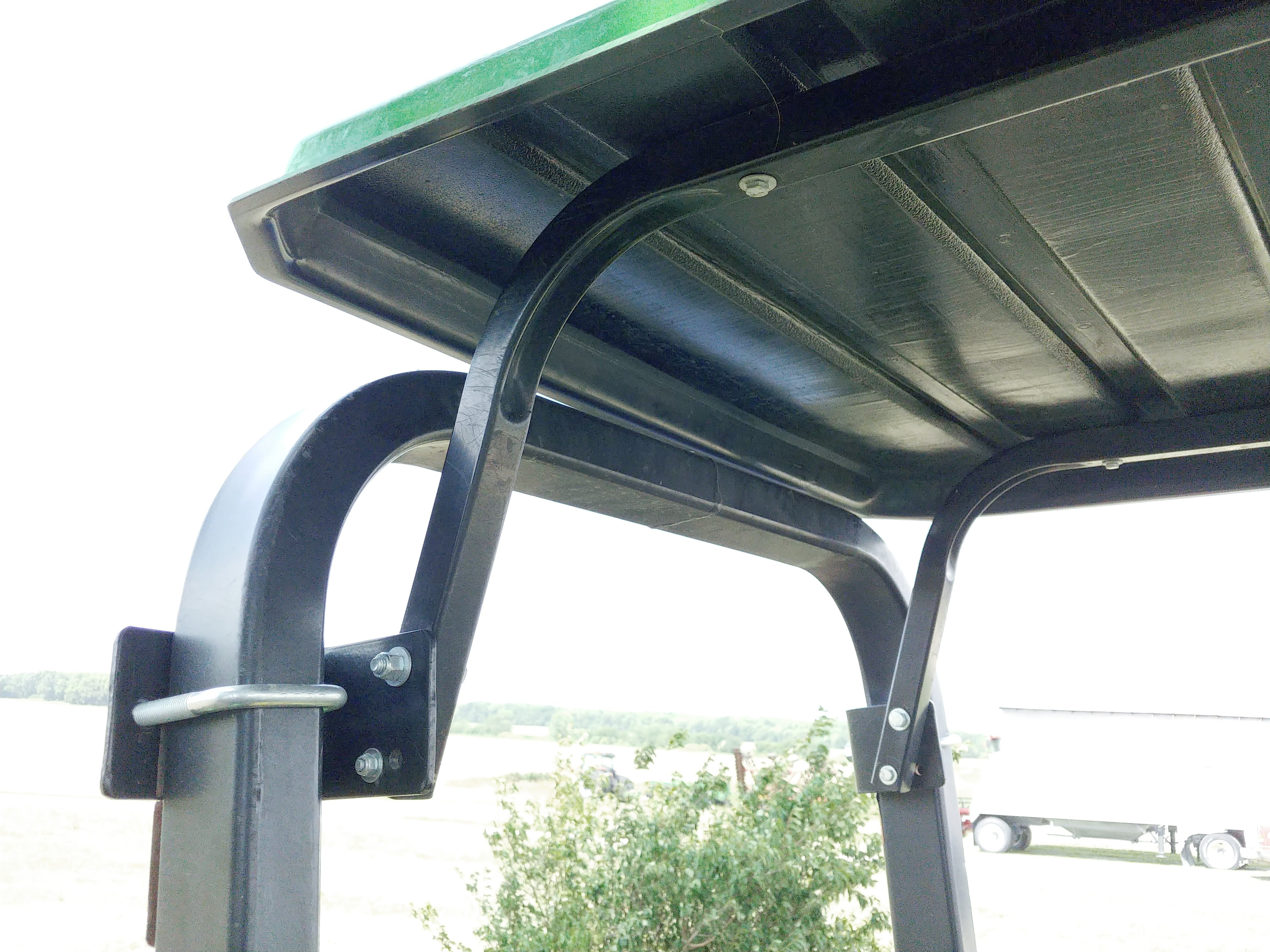 Side view of installed canopy.