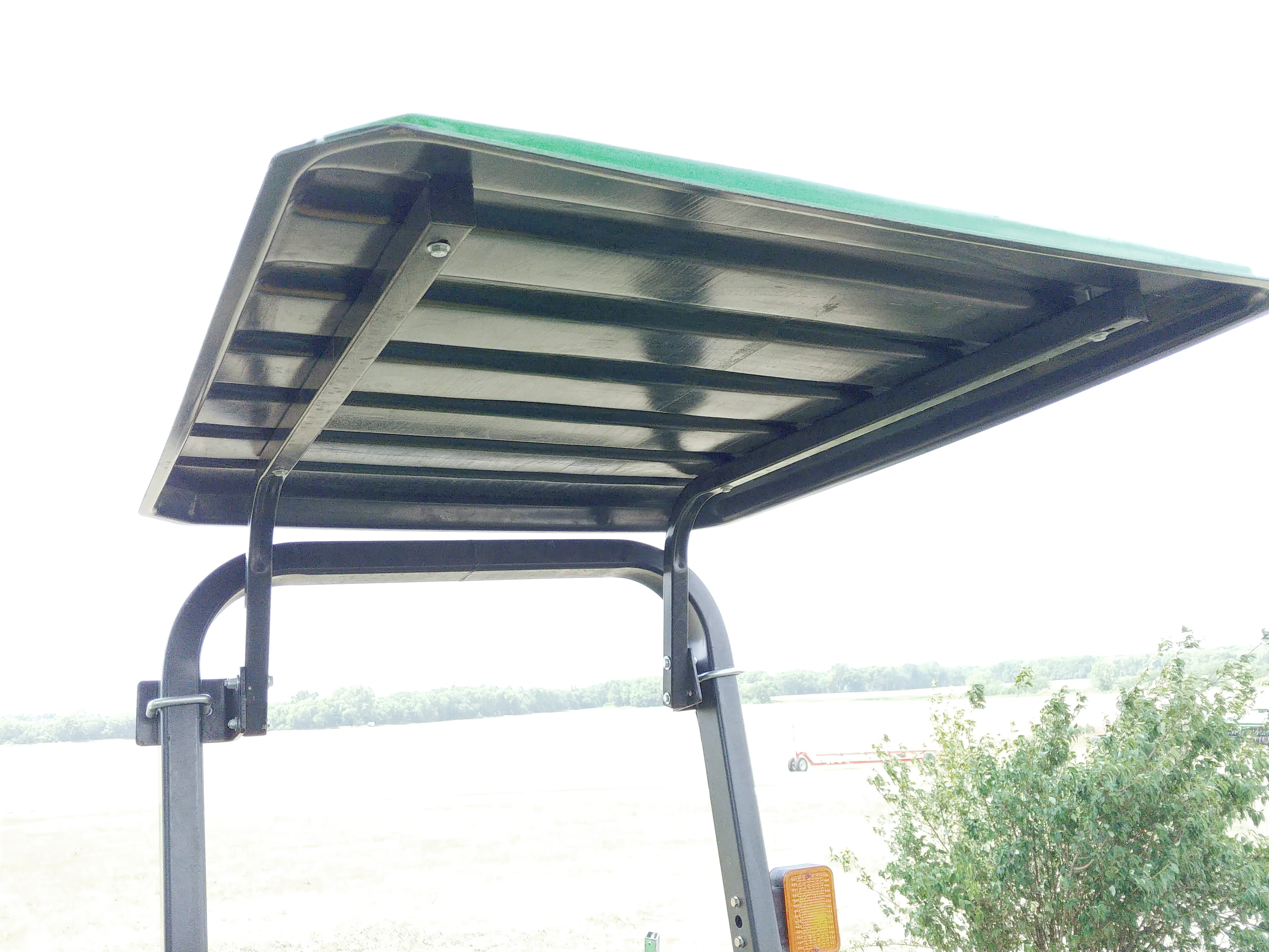 Front view of installed canopy