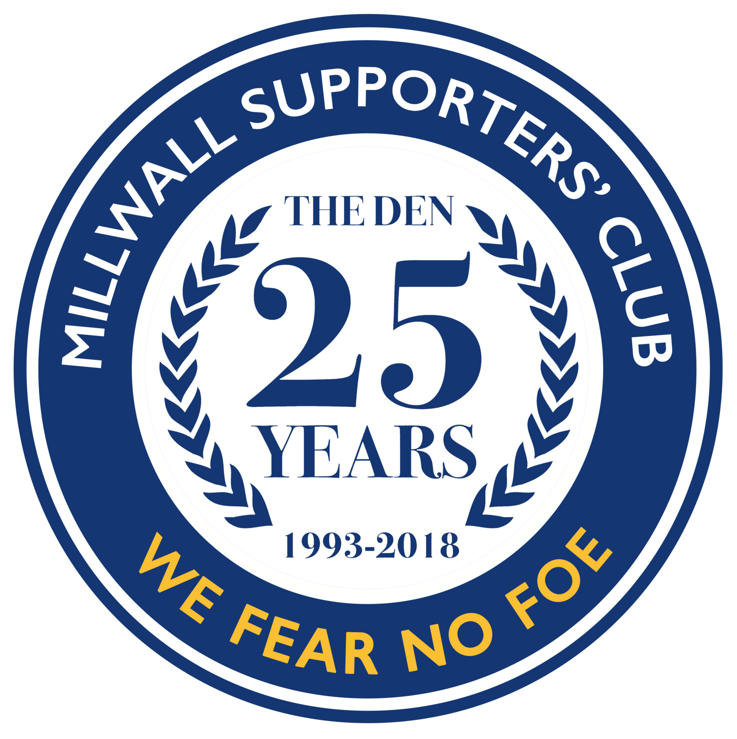 25 Years At The Den Badge