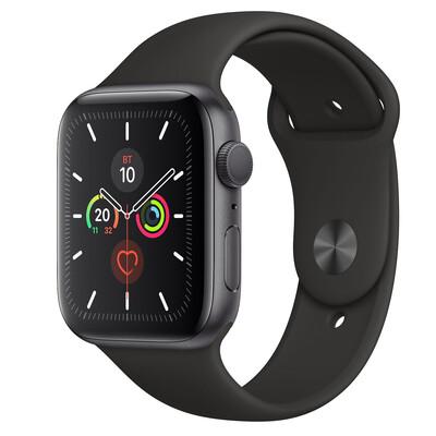 Часы Apple Watch Series 5 GPS 44mm Aluminum Case with Sport Band (Серый космос/Черный)