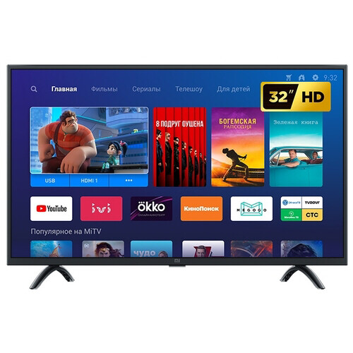 "Телевизор Xiaomi Mi TV 4A 32 T2 Global 31.5"" (2019), черный"