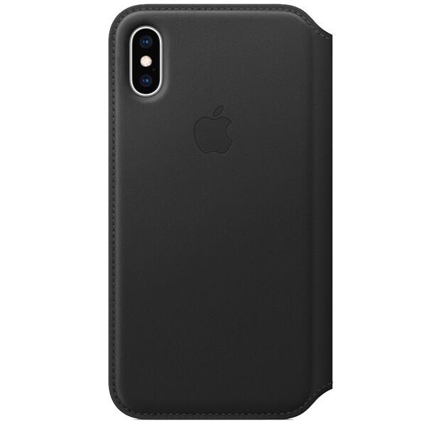 Чехол-книжка Apple Folio кожаный для iPhone XS black