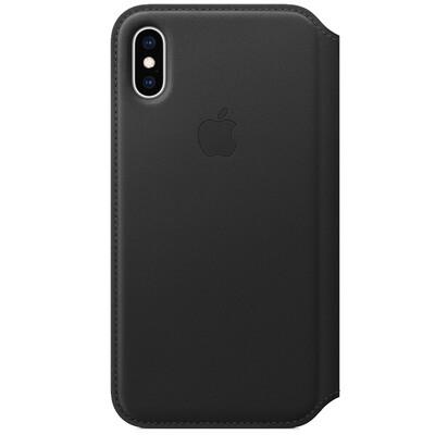 Чехол Apple Folio кожаный для iPhone XS Black