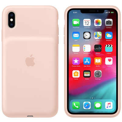 Чехол-аккумулятор Apple Smart Battery Case для Apple iPhone XS Max Розовый песок