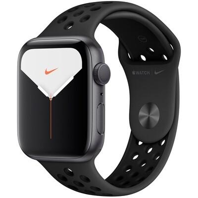 Часы Apple Watch Series 5 GPS 44mm Aluminum Case with Nike Sport Band (Серый космос/антрацитовый/черный)